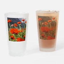 bold red poppy flower Drinking Glass