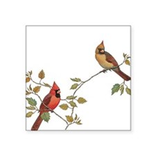 Cardinal Couple Sticker