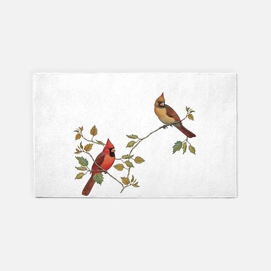Cardinal Couple Area Rug