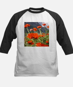 bold red poppy flower Baseball Jersey