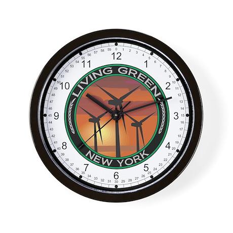 Living Green New York Wind Power Wall Clock