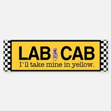 Yellow Lab Bumper Bumper Bumper Sticker