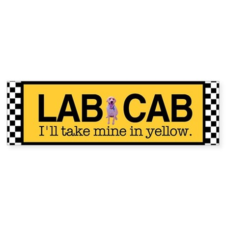 Yellow Lab Bumper Sticker
