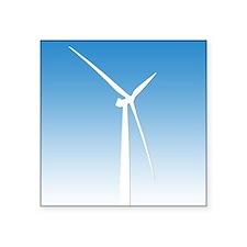 """Cute Wind power Square Sticker 3"""" x 3"""""""