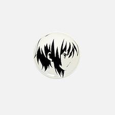 Anime Girl Stencil Mini Button (10 pack)