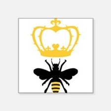 "Cute Queen bee Square Sticker 3"" x 3"""