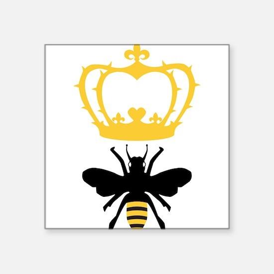 "Cute Bee Square Sticker 3"" x 3"""