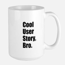 Cool User Story Black on White Mugs