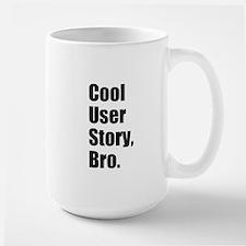 Cool User Story Black on White Mugs