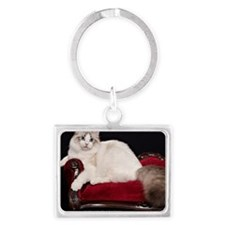 Cute Cat lover Landscape Keychain