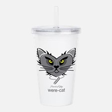 Were-Cat Acrylic Double-wall Tumbler