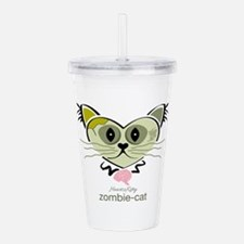 Zombie-Cat Acrylic Double-wall Tumbler