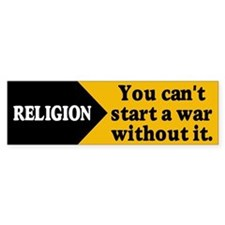 RELIGION WAR Bumper Bumper Sticker