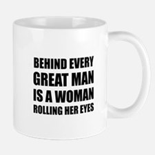 Woman Rolling Eyes Mugs
