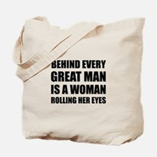 Woman Rolling Eyes Tote Bag