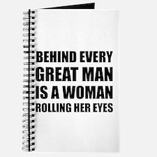 Woman Rolling Eyes Journal