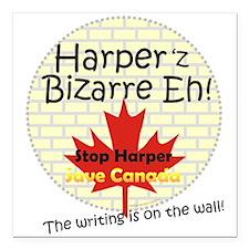 "Harpers Bizarre Square Car Magnet 3"" x 3"""