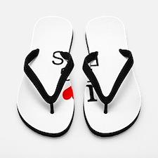 I Love Big Rigs Flip Flops