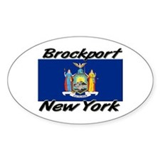 Brockport New York Oval Decal