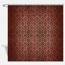 HXG1 BK MARBLE COPPER (R) Shower Curtain