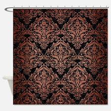 DMS1 BK MARBLE COPPER Shower Curtain