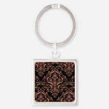DMS1 BK MARBLE COPPER Square Keychain