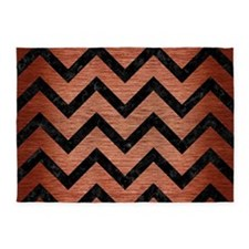 CHV9 BK MARBLE COPPER (R) 5'x7'Area Rug