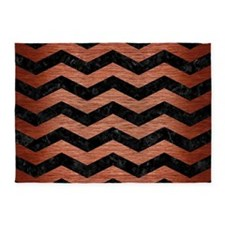 CHV3 BK MARBLE COPPER 5'x7'Area Rug