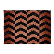 CHV2 BK MARBLE COPPER 5'x7'Area Rug