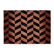 CHV1 BK MARBLE COPPER 5'x7'Area Rug