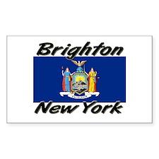 Brighton New York Rectangle Decal