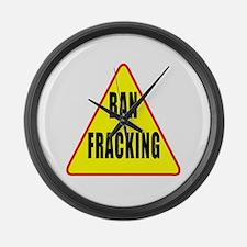 Ban Fracking Large Wall Clock