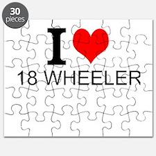 I Love 18 Wheelers Puzzle