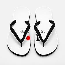 I Love 18 Wheelers Flip Flops