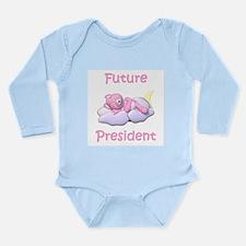 Funny Future president Long Sleeve Infant Bodysuit
