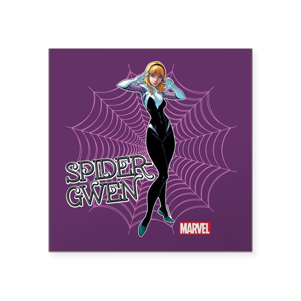 1657296786 CafePress Spider Gwen Unmasked Square Sticker 3 X 3 Square Sticker