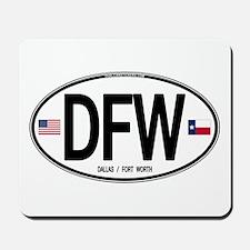 Texas Euro Oval - DFW Mousepad
