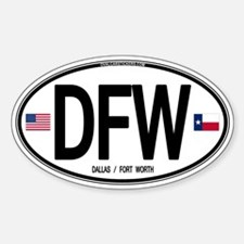 Texas Euro Oval - DFW Oval Decal