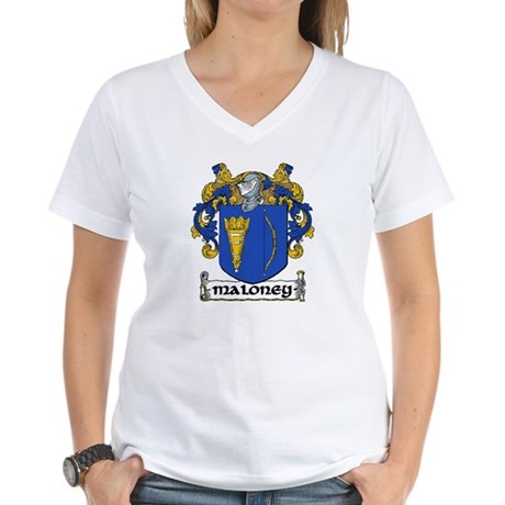 Maloney Coat of Arms Women's V-Neck T-Shirt