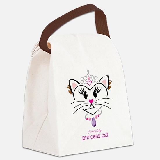 Princess Cat Canvas Lunch Bag