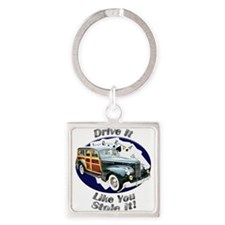 Packard Woodie Square Keychain