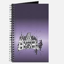 Haunted House Tall Purple Journal