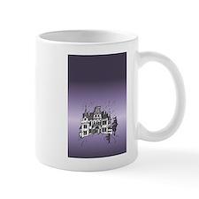 Haunted House Tall Purple Mugs
