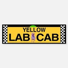 Yellow Lab Cab Bumper Bumper Bumper Sticker