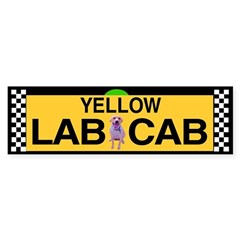 Yellow Lab Cab Bumper Bumper Sticker