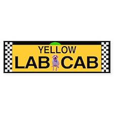 Yellow Lab Cab Bumper Bumper Sticker