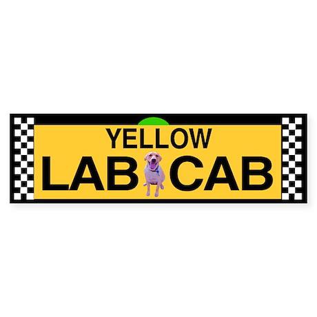 Yellow Lab Cab Bumper Sticker