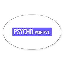 Psycho Path, Traverse City (MI) Oval Decal