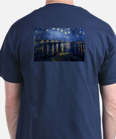 Starry Night Over the Rhone by van Go T-Shirt