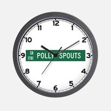 Polly Spouts, McDowell County (NC) Wall Clock